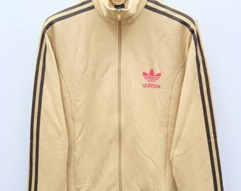 Vintage ADIDAS Trefoil Sportswear Brown Zipper Training Jacket Size M