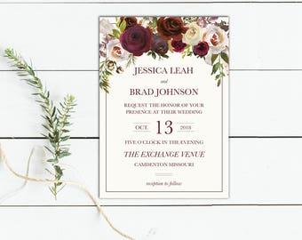 Elegant Floral Invitation