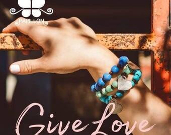 Haiti Papillon Enterprises Heart Charm Bracelet