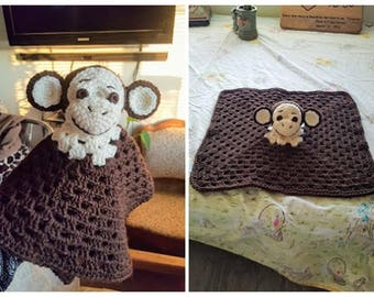 Monkey Lovey/Security Blanket/Toy Crochet Pattern