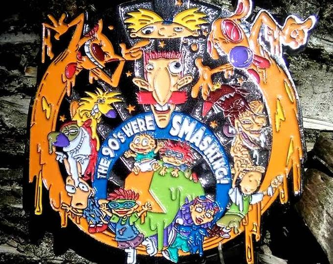 The 90's Were SMASHING Pin (Nickelodeon/Bassnectar) (90NI04) (partial glitter)