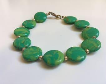 Green Calasilica Bracelet (Bead Collection)