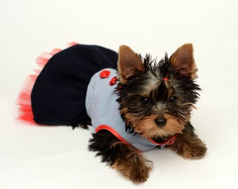 Dog Dress, Dog Clothing, Dog Wedding Dress, Pet Clothing, Pet Clothing