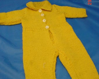 Vintage Handknitted Jumpsuit for 16 in Babydoll, Good  cond