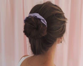 Silk Hair Scrunchie, Lilac Silk Scrunchie Hair Tie, Purple Silk Scrunchie, Purple Hair Tie, Silk Hair Tie, Gymnastic Scrunchie