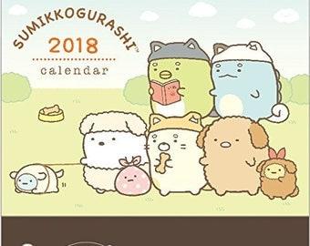 San-X Sumikko Gurashi 2018 Calendar -  Desktop Calendar