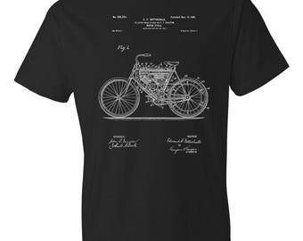Motor Cycle T-Shirt Patent Art Gift, Motorcycle, Motorcycle T-shirt, Motorcycle Patent, Motorcycle Gift, Biker Gift, Motorcyclist Gift