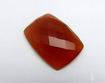 45Cts 32X23X7mm Honey Chalcedony Loose Gemstones Rectangle Faceted Checkerboard Cut - Top Quality Jewellery Making Precious Gemstone RG-014