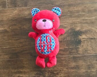 Anniversary Gift, Valentine's gift, Love Stuffed animal, red stuffed bear, love bear, love stuffed animal