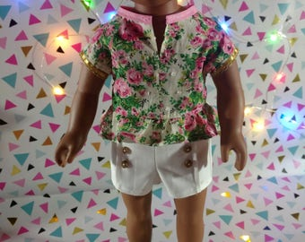 Floral Carrie 18 inch doll full ensemble