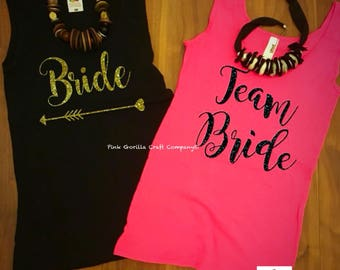 Personalised Hen Party T-shirt Vest, Bride to be T-shirt Vest, Bridesmaid Tshirt, Team Bride, Personalised Hen Party Vest, Bridal T-shirt