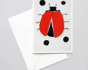 Greeting card Ladybug