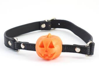 Halloween Pumpkin Ball Gag