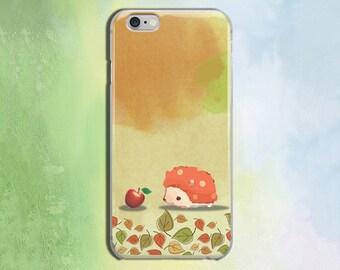 Animal case Hedgehog case Beautiful iPhone 6s Plus 5s case for Samsung S6 iPhone 5 case iPhone 6 Case iPhone Case S6 Case 6 Plus phone CZ170