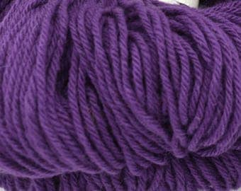 Purple Wool Yarn - Knitting Yarn - Crochet Yarn - DK Yarn - Yarn for Sweaters - Yarn for Felting - Weaving Yarn - Crocheting - Yarn for Sale