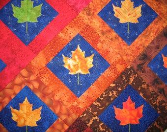 Leaf Applique Quilt - Applique Designs - Applique Quilt Pattern - Quilt Pattern PDF - PDF Quilt Patterns - Applique Quilt - Quilting - Quilt
