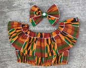 African baby top/baby top/crop top/hairbow/African babygirl clothes//Headwrap/Newborn clothes/African clothing/Ankara skirt/Kente Fabric/Gir