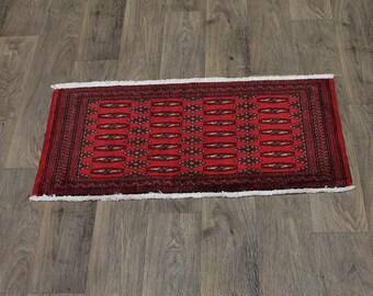 Beautiful Small Size Handmade Turkoman Persia Area Rug Oriental Carpet 1ʹ9X3ʹ4