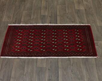 Rare Size Handmade Tribal Small Turkoman Persian Rug Oriental Area Carpet 2X5