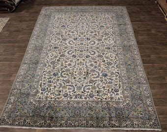 9X13 Exceptional Rare Size Signed Kashan Persian Rug Oriental Carpet 8'5X12'9