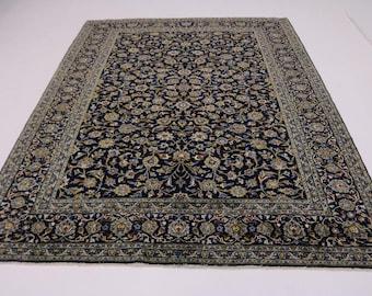Excellent All-Over Floral Design Kashan Persian Rug Oriental Area Carpet 10X13