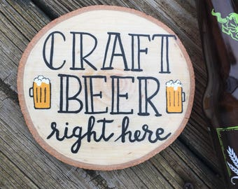 Craft Beer Right Here Magnet, Over sized Magnet, Fridge Magnet, Man Cave Decor, Craft Beer Magnet, Men's Birthday Gift