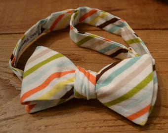 The Multi Stripe Bow Tie | Father Son, Matching Bow Ties, HANDMADE CUSTOM ORDER, Pre-Tie or Self-Tie | Mens, Boys, Toddler or Baby