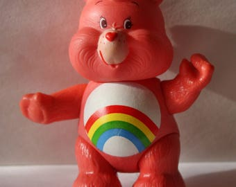 Vintage 1983 Care Bears CHEER BEAR PVC Collectibe Figure