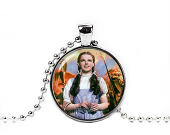 Dorothy Gale Necklace Wizard of Oz Pendant Necklace Chain Photo Glass Pendant