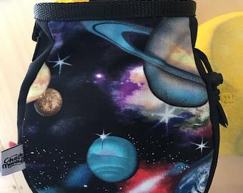 Planet Galaxy Solar System print Chalk Bag