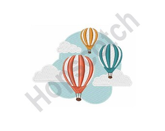 Hot Air Balloons - Machine Embroidery Design
