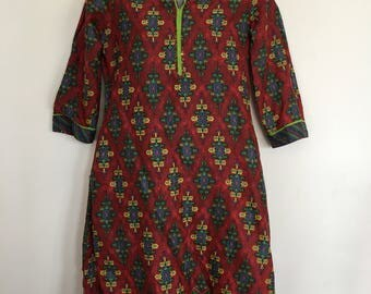 Biba Women ethnic indian Printed Straight Kurta dress eur 34 size uk4