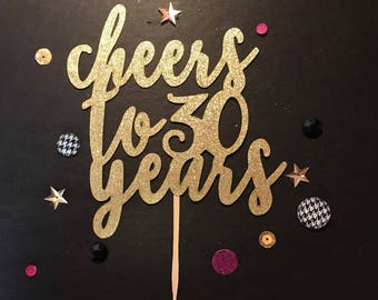 Cheers To 30 Years Etsy