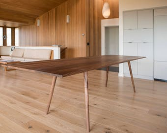 MCM Style Extendable Hardwood Dining Table