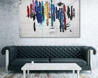 Colorful Abstract Painting / Modern Art / Extra Large Original Art / Oversized Painting / Large Abstract Art