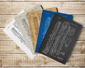 Slipstick, Slide Rule, Slipstick Print, Slide Rule Poster, Engineer Print, Physics Poster, Calculator,Engineer Gift,Patent, INSTANT DOWNLOAD