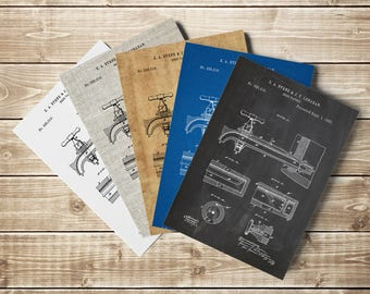 Beer Tap, Beer Tap Blueprint, Brewing Printable, Brewing Beer Poster, Craft Beer Decor, Beer Sign, Beer Patent Print, Beer, INSTANT DOWNLOAD