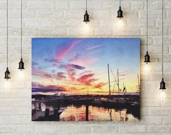 Dock Views | digital download | Pink Sky | Sunset Skies | Sunset | Reflections | Wall Art | Wall Decor | Home Decor | Digital Print |