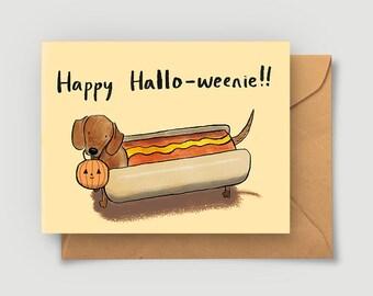 Halloween Card - Happy Halloweenie