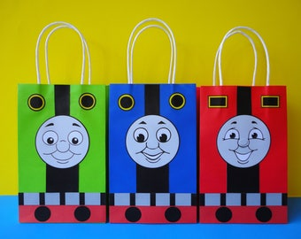 DIY Train Party Favor Bags - Printable Template - Train Birthday Party theme - Trains Party - Train Party Decorations