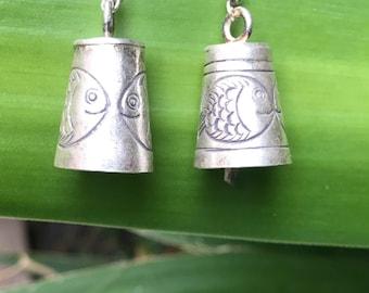 Brass tribal earrings, ethnic earrings,boho  jewelry, Balinese earrings, gypsy earrings, hoop earrings, gift for her, free postage