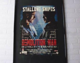 1993 Demolition man Stallone/Snipes original movie poster