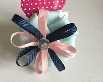 Circular Ribbon Hair Bow