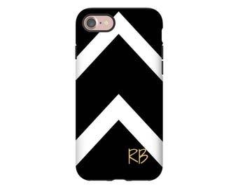 Black and White iPhone 7 case, chevron iPhone X case, iPhone 8 Plus/7 Plus case, monogram iPhone 8 case, iPhone 6s/6s Plus, iPhone 6/6 Plus
