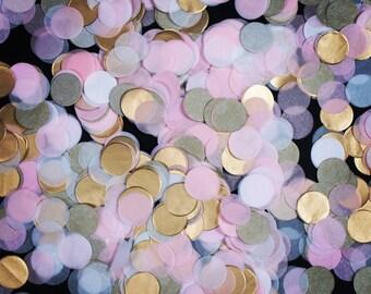Blush, Gold and White 'Blush & Gold' Tissue Paper Confetti