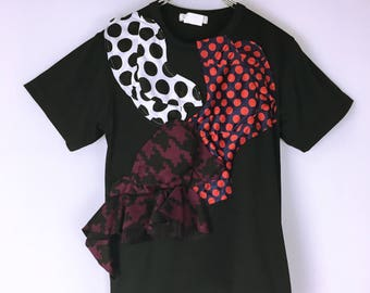 Comme des Garcons Dot pattern decoration stretch T shirt