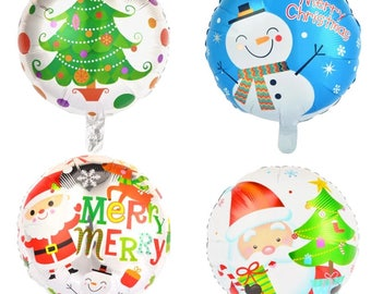 4pcs 18 inch Christmas foil balloons merry Christmas helium balloon Christmas decoration inflatable air balls party supplies