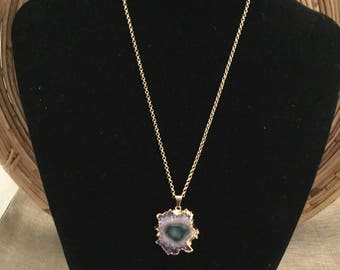 Slice of Agate Gold Necklace