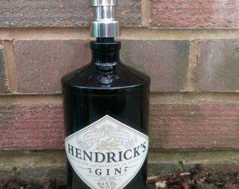 Hendricks gin bottle soap dispenser.