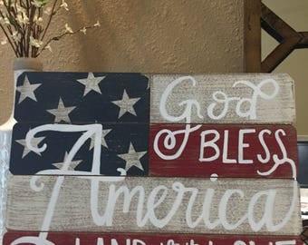 God Bless America Wood